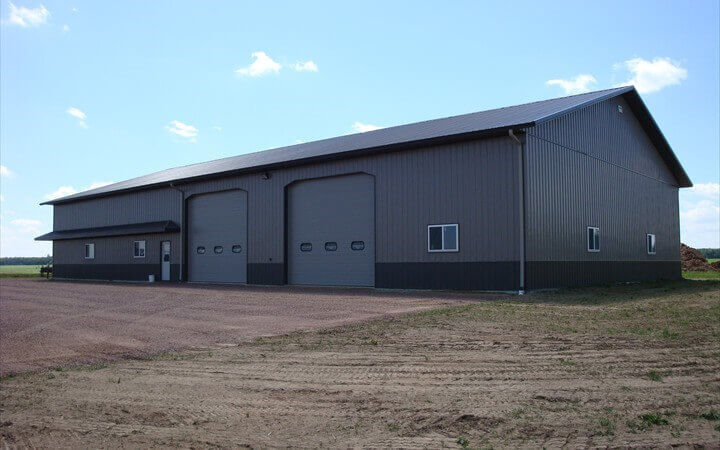 Commercial Seamless Gutters Work In Central Wisconsin By